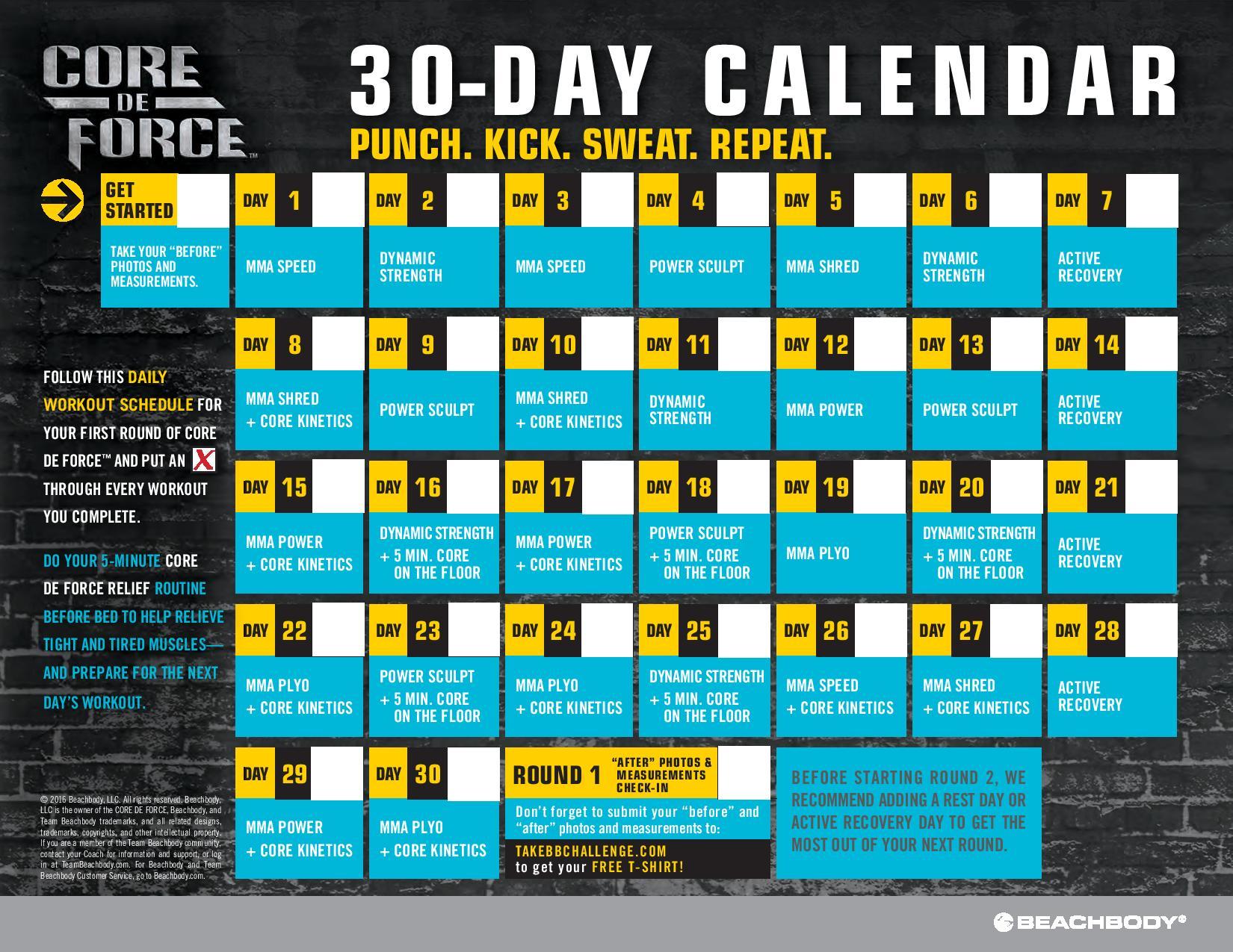Core-De-Force-30-Day-Calendar